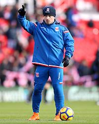 Stoke City's Xherdan Shaqiri during the pre-match warm up