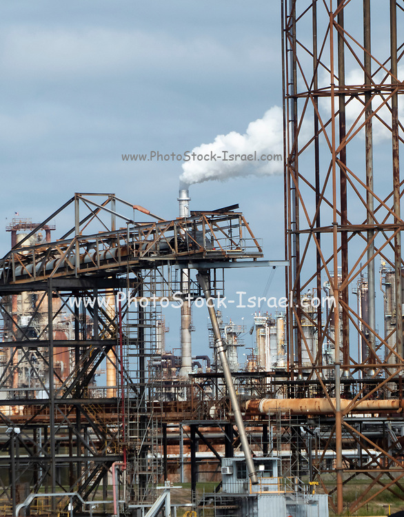 metal construction lattice and smoking flue Photographed in New Orleans