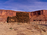 Anasazi ruin located at Fort Bottom, above the Green River, Island in the Sky District, Canyonlands National Park, Moab, Utah, USA.