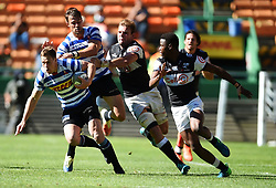 Cape Town-180929-Western Province SP Marais tackled by Cell C Sharks players in a Currie cup Clash at Newlands Stadium  .Photographs:Phando Jikelo/African News Agency/ANA