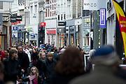 Shopping in the centre of The Hague, Netherlands.Winkelen in het centrum van Den Haag, Zuid Holland