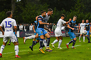 Leeds United Ryan Edmondson (14) scores a hat-trick goal to make the score 1-5 during the Pre-Season Friendly match between Tadcaster Albion and Leeds United at i2i Stadium, Tadcaster, United Kingdom on 17 July 2019.
