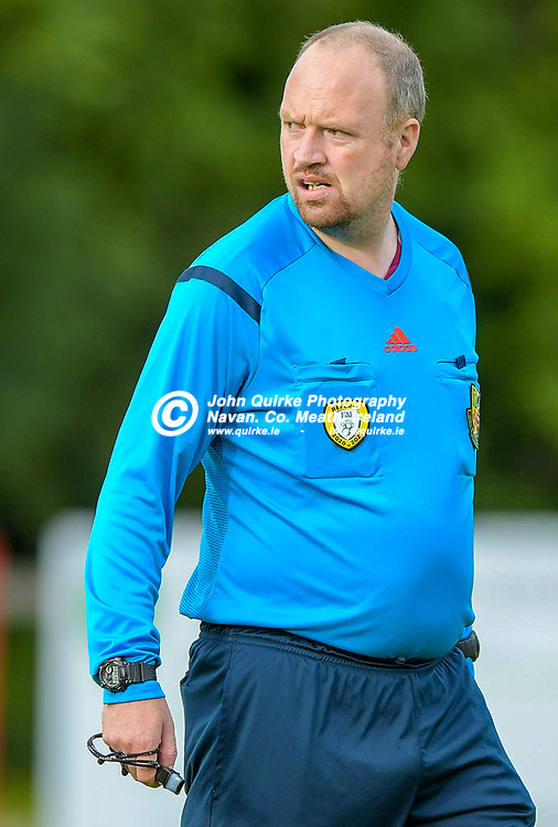 Full Time Score 2 - 2<br /> <br /> Referee Paul Lynch (Meath Branch),  in the Skryne/Tara v Balrath, North East Football League Women's Div South match, at Ross Cross, Tara.<br /> <br /> Photo: GERRY SHANAHAN-WWW.QUIRKE.IE<br /> <br /> 26-06-2021