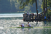 Bled, SLOVENIA.  GBR M2- Bow Peter REED and Andy TRIGGS HODGE, Men's Pair Semi Final,  11 FISA World Rowing Championships, Lake Bled. Friday  02/09/2011  [Mandatory Credit; Peter Spurrier/ Intersport Images]