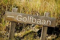 TEXEL- Cocksdorp-TEXELSE GOLF. aanwijzing golfbaan. COPYRIGHT KOEN SUYK