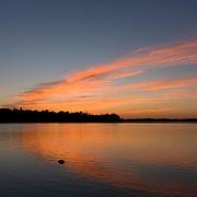 Sunset above Lake Quannapowitt, Wakefield, MA USA