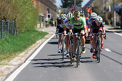 Sheyla Gutierrez (Cylance Pro Cycling) tries to maintain the breaks lead - Flèche Wallonne Femmes - a 137km road race from starting and finishing in Huy on April 20, 2016 in Liege, Belgium.