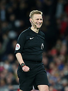 Referee Mike Jones in action during the Premier League match at the Emirates Stadium, London. Picture date: April 26th, 2017. Pic credit should read: David Klein/Sportimage
