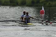 Poznan, POLAND.  2006, FISA, Rowing, World Cup,  POL LM2X,  bow  Tomasz  KUCHARSKI, Robert  SYCZ, move away from  the start  pontoon.l.  'Malta Regatta course;  Poznan POLAND, Fri. 16.06.2006. © Peter Spurrier   ....[Mandatory Credit Peter Spurrier/ Intersport Images] Rowing Course:Malta Rowing Course, Poznan, POLAND
