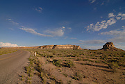 Sandstone rocks in the Chaco National Park, New mexico, USA