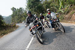 Scotty Busch (L) and Danny Ochs on day-9 of our Himalayan Heroes adventure riding from Pokhara to Nuwakot, Nepal. Wednesday, November 14, 2018. Photography ©2018 Michael Lichter.