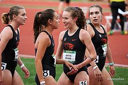 University of Oregon<br /> Oregon Relays track and field meet<br /> April 23-24, 2021 Eugene, Oregon, USA<br /> Oregon St, womens 1500