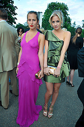 Left to right, Charlotte Dellal and Marissa Montgomery at the annual Serpentine Gallery Summer Party sponsored by Canvas TV  the new global arts TV network, held at the Serpentine Gallery, Kensington Gardens, London on 9th July 2009.
