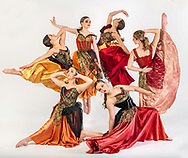 Students with Utica Dance hold a pose during a photo shoot May 10, 2021.