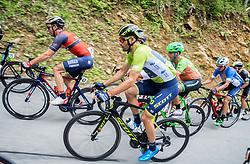 Borut Bozic (SLO) of Bahrain-Merida, Luka Mezgec (SLO) of Orica - Scott during Stage 3 of 24th Tour of Slovenia 2017 / Tour de Slovenie from Celje to Rogla (167,7 km) cycling race on June 16, 2017 in Slovenia. Photo by Vid Ponikvar / Sportida