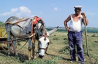 Bulgarie, Paysan dans la campagne // Bulgaria, farmer on the countryside