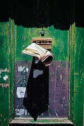 Letter box in old door in Bayonne France<br /> <br /> (c) Andrew Wilson | Edinburgh Elite media