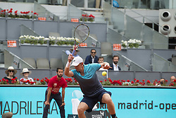 May 11, 2018 - Madrid, Madrid, Spain - KEVIN ANDERSON in a match against DUSAN LAJOVIC during the quarter finals of Mutua Madrid Open 2018 - ATP in Madrid. KEVIN ANDERSON won the match 7-6(3) 3-6 6-3. (Credit Image: © Patricia Rodrigues via ZUMA Wire)