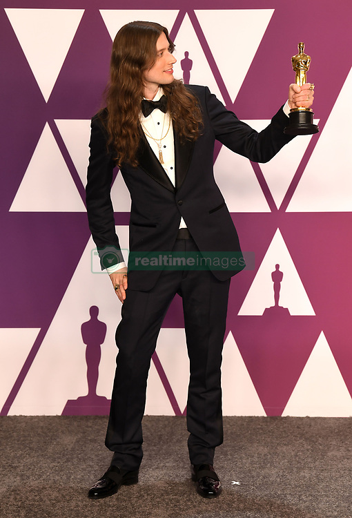 """Ludwig Goransson, winner of the Best Original Score Award for """"Black Panther"""" at the 91st Annual Academy Awards (Oscars) presented by the Academy of Motion Picture Arts and Sciences.<br /> (Hollywood, CA, USA)"""
