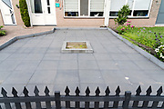 tiled maintenance free garden in front of the house Netherlands