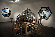 An exhibition at the Long March Space by Zhan Wang called Shanshui Furniture.