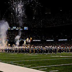 September 9, 2010; New Orleans, LA, USA;  New Orleans Saints owner Tom Benson arrives on the field on a float as the team celebrated their Super Bowl XLIV championship prior to kickoff of the NFL Kickoff season opener at the Louisiana Superdome. The New Orleans Saints defeated the Minnesota Vikings 14-9.  Mandatory Credit: Derick E. Hingle