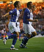 Photo: Steve Bond.<br />Birmingham City v Sunderland. The FA Barclays Premiership. 15/08/2007. Stephen Kelly (R) and Liam Ridgewell (L) celebrate