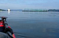Fish farm outside Bergen seen from kayak - Fiskeoppdrett utenfor Bergen sett fra kajakk