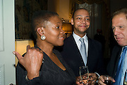 Baroness Amos and Paul Pearson, Launch of  ñMy Beautiful Gameî by Nancy DellÍOlio<br />hosted by The Italian Ambassador and Signora Aragona  Thursday, 17 April 2008. at 4 Grosvenor Square, London W1. 17 April 2008. <br /> *** Local Caption *** -DO NOT ARCHIVE-© Copyright Photograph by Dafydd Jones. 248 Clapham Rd. London SW9 0PZ. Tel 0207 820 0771. www.dafjones.com.