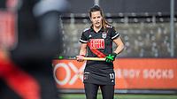 AMSTELVEEN -  Sabine Plonissen (Adam) , stox,  tijdens  de hoofdklasse hockey competitiewedstrijd dames, Amsterdam-Den Bosch (0-1)  COPYRIGHT KOEN SUYK