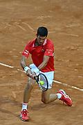 Foto Fabrizio Corradetti - LaPresse<br /> 14/05/2021 Roma ( Italia)<br /> Sport Tennis<br /> Quarti fi finale<br /> Novak Djokovic (SRB) vs Stefanos Tsitsipas (GRE)<br /> Internazionali BNL d'Italia 2021<br /> Nella foto: Novak Djokovic<br /> <br /> Photo Fabrizio Corradetti - LaPresse<br /> 14/05/2021 Roma (Italy)<br /> Sport Tennis<br /> Quarter final<br /> Novak Djokovic (SRB) vs Stefanos Tsitsipas (GRE)<br /> Internazionali BNL d'Italia 2021<br /> In the pic: Novak Djokovic