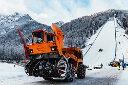 Rotary snow plow at preparation of Planica Hill 6 days before FIS Ski Flying World Championships 2020, on December 4, 2020 in Planica, Slovenia. Photo by Matic Klansek Velej / Sportida