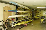 Henley. England, GB Rowing crews training on Henley Reach.<br /> Photo Peter Spurrier.<br /> 11/03/2004 - British International Rowing - Training<br /> Leander Boat House [boat bays].   [Mandatory Credit. Peter SPURRIER/Intersport Images]
