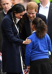 Prince Harry and Meghan Markle visit Millennium Point in Birmingham, UK, on the 8th March 2018. 08 Mar 2018 Pictured: Prince Harry and Meghan Markle visit Millennium Point in Birmingham, UK, on the 8th March 2018. Photo credit: James Whatling / MEGA TheMegaAgency.com +1 888 505 6342