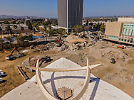 Demolition of LACMA, Los Angeles County Museum of Art, on Wilshire Blvd.<br /> Los Angeles, CA USA.<br /> Photo by Ted Soqui
