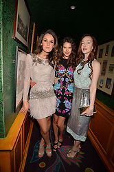 Left to right, Rosanna Falconer, Sarah Ann Macklin and Olivia Grant at the  Annabel's Bright Young Things Party at Annabel's, Berkeley SquareLondon England. 8 June 2017.<br /> Photo by Dominic O'Neill/SilverHub 0203 174 1069 sales@silverhubmedia.com