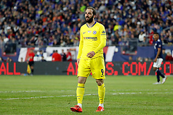 May 15, 2019 - Foxborough, MA, U.S. - FOXBOROUGH, MA - MAY 15: Chelsea FC forward Gonzalo Higua'n (9) enters the match during the Final Whistle on Hate match between the New England Revolution and Chelsea Football Club on May 15, 2019, at Gillette Stadium in Foxborough, Massachusetts. (Photo by Fred Kfoury III/Icon Sportswire) (Credit Image: © Fred Kfoury Iii/Icon SMI via ZUMA Press)