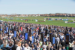 General view of racegoers before The Ayrshire Magazine Racing Excellence Hands & Heels Handicap Hurdle at the Coral Scottish Grand National 2018 meeting at Ayr Racecourse.