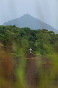 Cross in Rabaul old town, East New Britain, Papua New Guinea