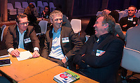UTRECHT - Nationaal Golf Congres en Beurs 2017. NVG  motto: Like to Play & Love to stay. Harald van Schie van Burggolf, Maurice Hermans van 't Herkenbosch.    FOTO © Koen Suyk