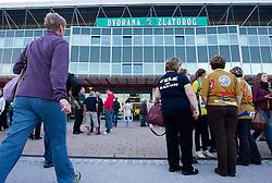 Exterior of the Arena Zlatorog prior to the handball match between RK Celje Pivovarna Lasko and RK Gorenje Velenje in 5th Round of 1. NLB Leasing Handball League 2012/13 on October 3, 2012 in Arena Zlatorog, Celje, Slovenia. (Photo By Vid Ponikvar / Sportida)