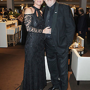NLD/Amsterdam/20141211- Opening Masters of LXRY 2014, Ernst Daniel Smid en partner Aly Burgers