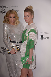 Paris Hilton, Nicky Hilton attending the premiere of the movie American Meme during the 2018 Tribeca Film Festival at Spring Studios in New York City, NY, USA on April 27, 2018. Photo by Julien Reynaud/APS-Medias/ABACAPRESS.COM