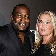 NLD/Amsterdam/20141115 - Life After Football fair 2014, Stanley Menzo en partner Sunniva