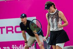 PORTOROZ, SLOVENIA - SEPTEMBER 18: Kaja Juvan of Slovenia during the Semifinals of WTA 250 Zavarovalnica Sava Portoroz at SRC Marina, on September 18, 2021 in Portoroz / Portorose, Slovenia. Photo by Nik Moder / Sportida