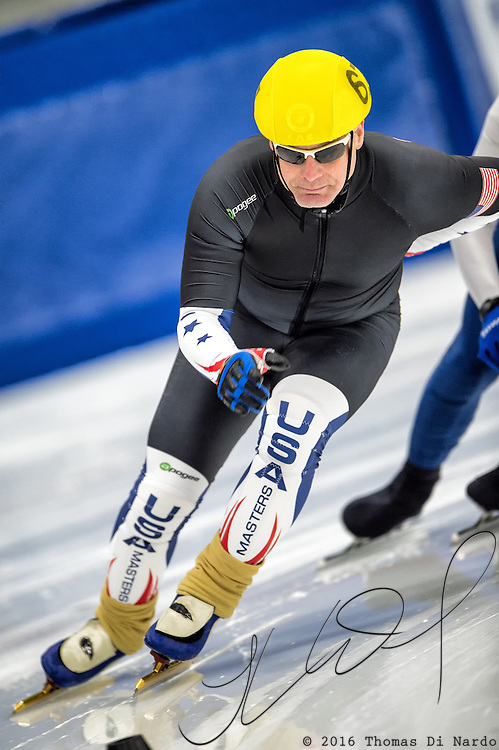 March 18, 2016 - Verona, WI - Daniel Greene, skater number 67 competes in US Speedskating Short Track Age Group Nationals and AmCup Final held at the Verona Ice Arena.