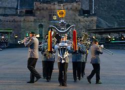Edinburgh, Scotland, UK. 5 August, 2019.  The Royal Edinburgh Military Tattoo forms part of the Edinburgh International festival. Pictured; Heeresmusikkorps Kassel