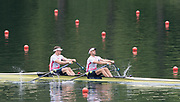 Lucerne, SWITZERLAND, Men's Double repechage. Top GBR1. Bow Jonny WALTON, John COLLINS, GBR2 M2X. Bow, Nick MIDDLETON, Jack BEAUMONT.<br /> Saturday  28/05/2016<br /> [Mandatory Credit; Peter SPURRIER/Intersport-images]
