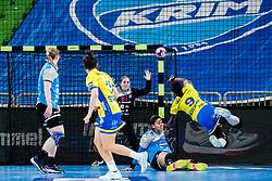 Jovana Risovic  of RK Krim (SLO) during handball match between RK Krim Mercator (SLO) vs Metz Handball  (FRA) in DELO EHF Women's Champions League 2020/21, on January 16, 2021 in SRC Stozice, Ljubljana, Slovenia. Photo by Grega Valancic / Sportida
