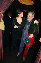 JASMINE GUINNESS and DAVID BAILEY at a Black, White and Gold party to celebrate the December 'Party' issue of Harper's Bazaar featuring the 'Going Out' Guide in association with Moet & Chandon  held at Ronnie Scotts, 47 Frith Street, London on 16th November 2006.<br /><br />NON EXCLUSIVE - WORLD RIGHTS